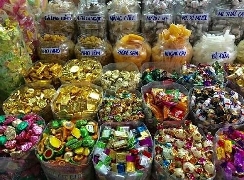 Gửi bánh kẹo đi Mỹ